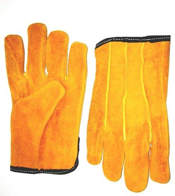 0ca740adac Guantes de cuero volteado Res amarillo mod.